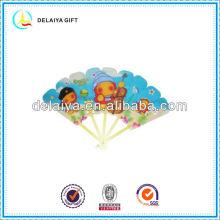 Lovely plastic folding hand fan for promotion