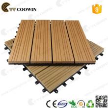 ПВХ винила WPC деревянная пластичная составная плитка палубы