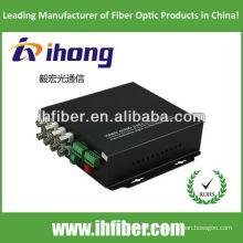 8 canaux monomode 20/40 / 60km Convertisseur vidéo fibre optique
