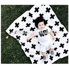 Cartoon pattern baby knitted cashmere blankets wholesale