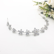 Wholesale Simple Silver Bridal Wedding Hair Accessories Alloy Crystal Crown
