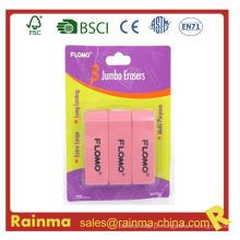 3 em 1 Set School Eraser, Plastic Borracha Eraser