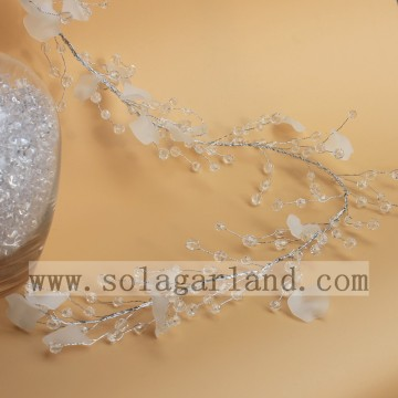 Acrylic Round Beads&White Piece Garland Tree Branches