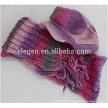 El nuevo diseño de las mujeres hizo en China Caída / Invierno hecho punto Marching los sombreros máximos capsulados