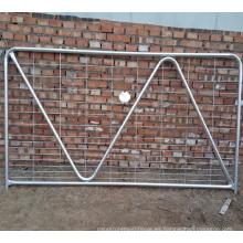Puerta tubular de acero galvanizada cubierta caliente de la venta para la granja con precio competitivo