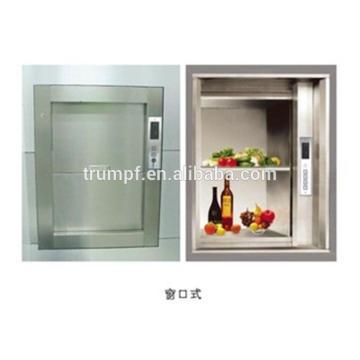 kitchen used and restaurant using food elevator dumbwaiter