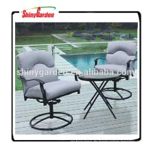Patio aluninum Garten runden Tisch und Stuhl Bistro-Set