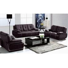 Черный кожаный диван, современный диван, гостиная раскладной (1002)
