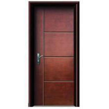 Nova porta de madeira de aço interior