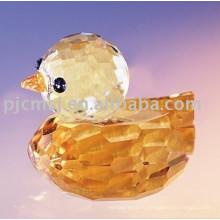 Новый дизайн - красивый желтый Кристалл утка для подарков.кристалл животных 2015