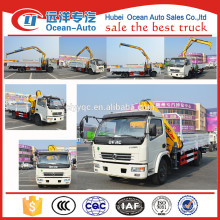 Factory price Dongfeng 4x2 Truck with Loading Crane for sale