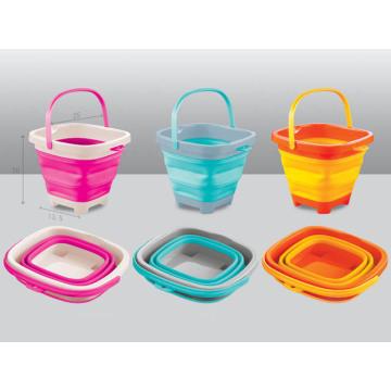 Colores balde de 5L y 7L cubo plegable para niños