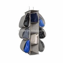 Hängender Aufbewahrungsbehälter für Handtaschen aus Stoff mit Metallhalter