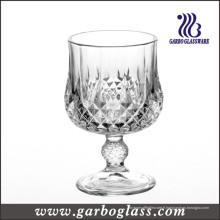 Gobelet de verre à vin rouge gravé pressé classique (GB040207ZS)
