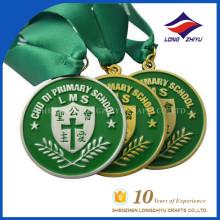Vente en gros Custom Metal Award Émallé Médaille avec ruban