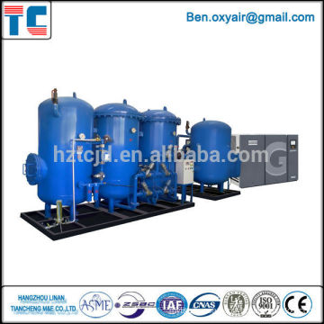 High efficiency low power consumption air separation Oxygen and Nitrogen Liquefaction Plants