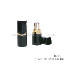 D274 квадратная пластиковая черная пустая косметическая упаковка губная помада