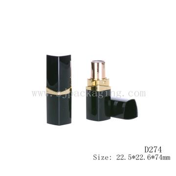 D274 Quadratischer Plastik schwarzer leerer kosmetischer Verpackungslippenstift
