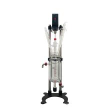 The New Lab 1L Chemical Equipment Overhead Stir Glass Reactor High Borosilicate Glass Reactor Anchor Stirred Reactor