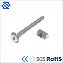 Carbon Steel Bolt White Zinc Plated Bolt Nut Hex Socket Pan Head Bolt and Nut
