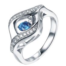 Edelstein Tanzen Diamant 925 Silber Ringe Schmuck