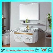 Ovs Gabinete de tocador de baño de aluminio con 2 estantes