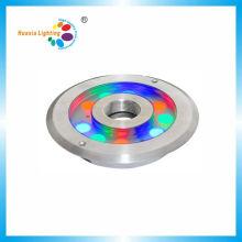 Luz impermeable de la fuente del acero LED de 9W / 27W RGB