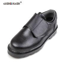 Anti slip indústria de alimentos preto ferro aço toe segurança sapatos