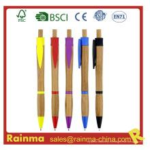 Clik bolígrafo de bambú para papelería ecológica