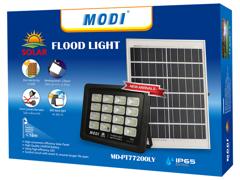 solar flood light security