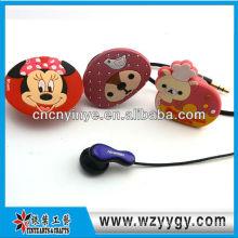 Customized mignon support de câble d'écouteur promotionnel pvc souple