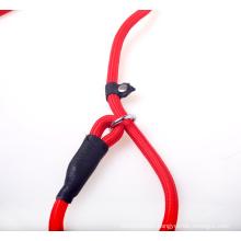 Made in China candy color dog leather leash nylon handle dog leash nylon twisted rope pet leash dog