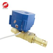 Válvula de control eléctrica de agua de bola automática motorizada de 3 vías