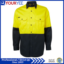 Hi Vis Long Sleeve Two Tone Wholesale Work Shirts (YWS118)