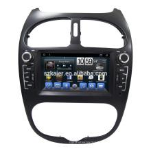 Écran tactile auto radio voiture dvd pour peugeot 206 GPS système de navigation Android 7.1 avec Radio wifi