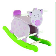Wooden Baby Chair Pig Rocker for Kids and Children