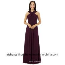 Frauen Chiffon ärmellose Brautjungfern Kleider Hochzeit Kleid