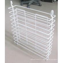 Branco em pó revestimento metal pendurado prateleira da prateleira (cj0003)