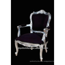 Purple King and queen chair with silver frame XY0350