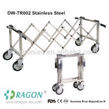 Dragon foldable Aluminum alloy church trollry coffin trolley with four wheels
