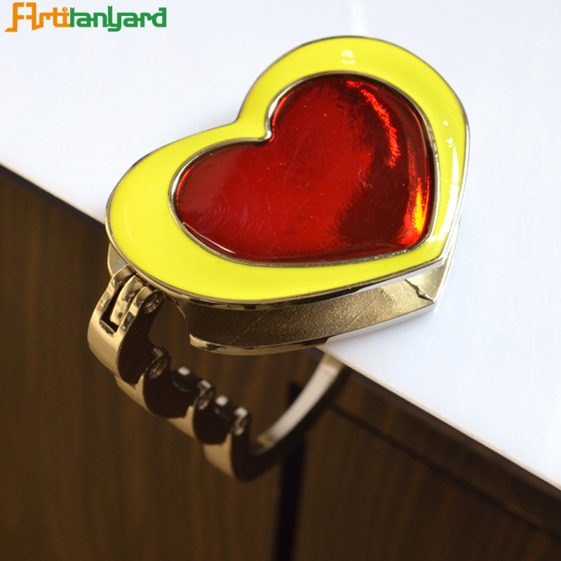 Heart Bag Hanger With Zinc Alloy