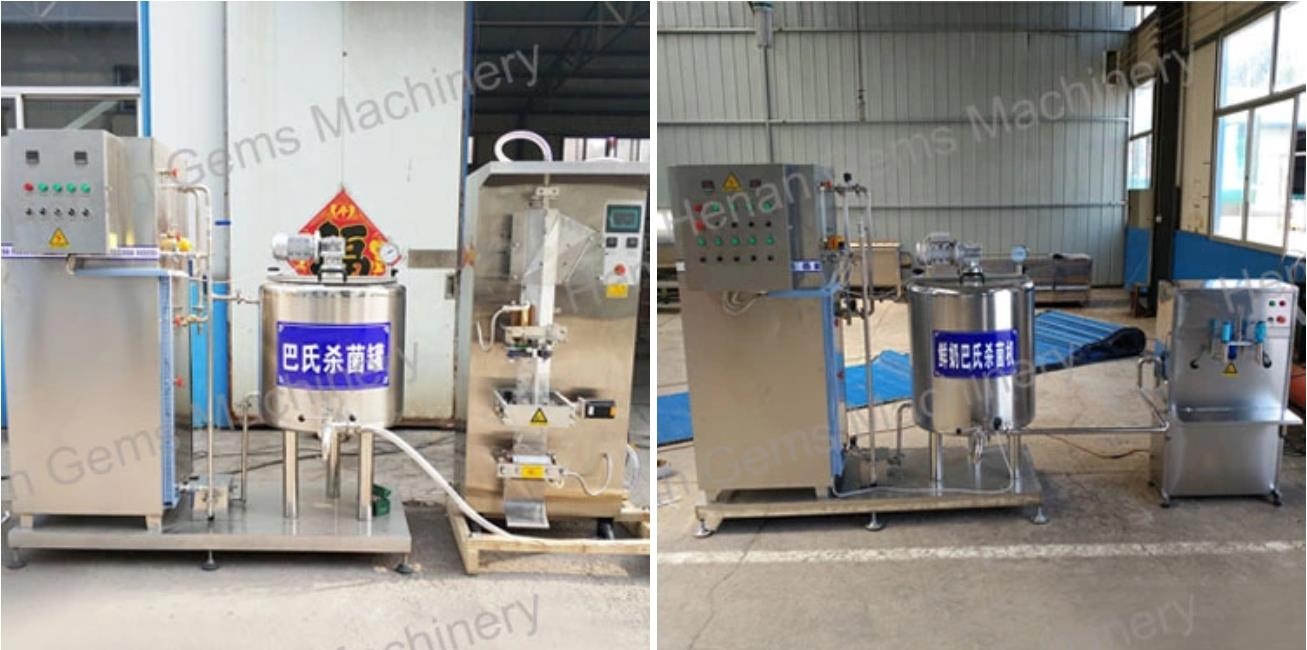 pasteurization machine with filling machine