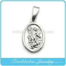 Truthkobo Casting alta calidad ángel de la guarda de acero inoxidable joyería religiosa colgante al por mayor
