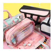 custom large capacity multi function stationery pencil case students detachable multilayer pencil bag