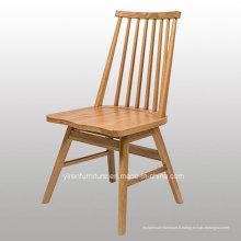 Chaise de salle à manger en bois massif de haute qualité