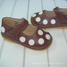 Braun mit Polka Dots Baby Schuhe