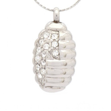 Special crystal pendant for ashes,silver jewelry cremation ashes pendant