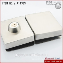 Gorgeous 304SS Square glass lock with double door-one side