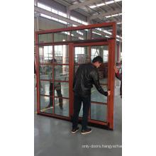 Fancy exterior doors main entrance doors design red color interior oak wood tilt and sliding door from China