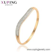 52110 brazaletes de moda de aleación de oro de cobre ambiental multicolor de Xuping